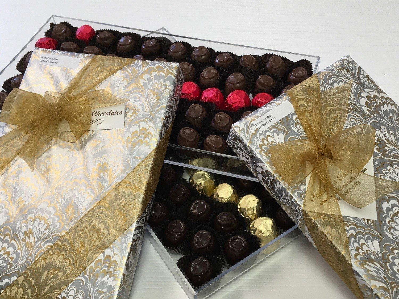 F - Chocolate Covered Cherries.  Liquid Filled.