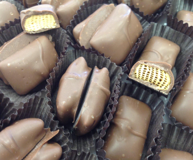 F - Milk Chocolate Covered Sponge.