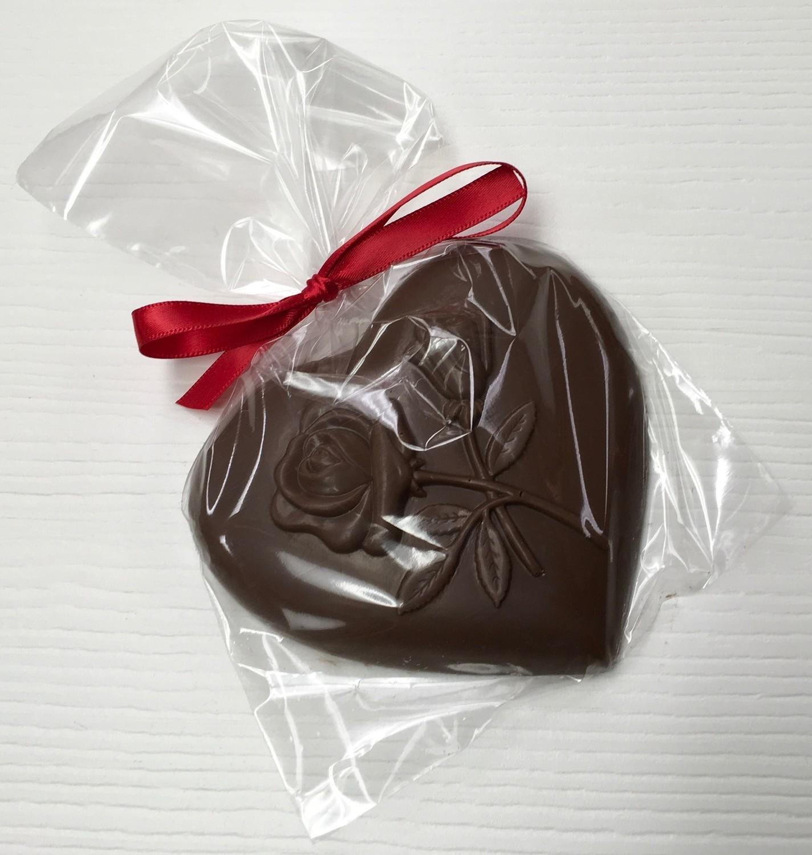 F - Milk Chocolate Heart w/ Rose