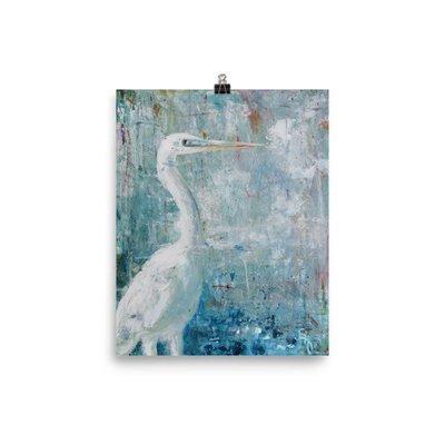Observing - Fine Art Print of White Bird