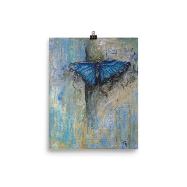 Carry Me - Fine Art Print of Blue Butterfly