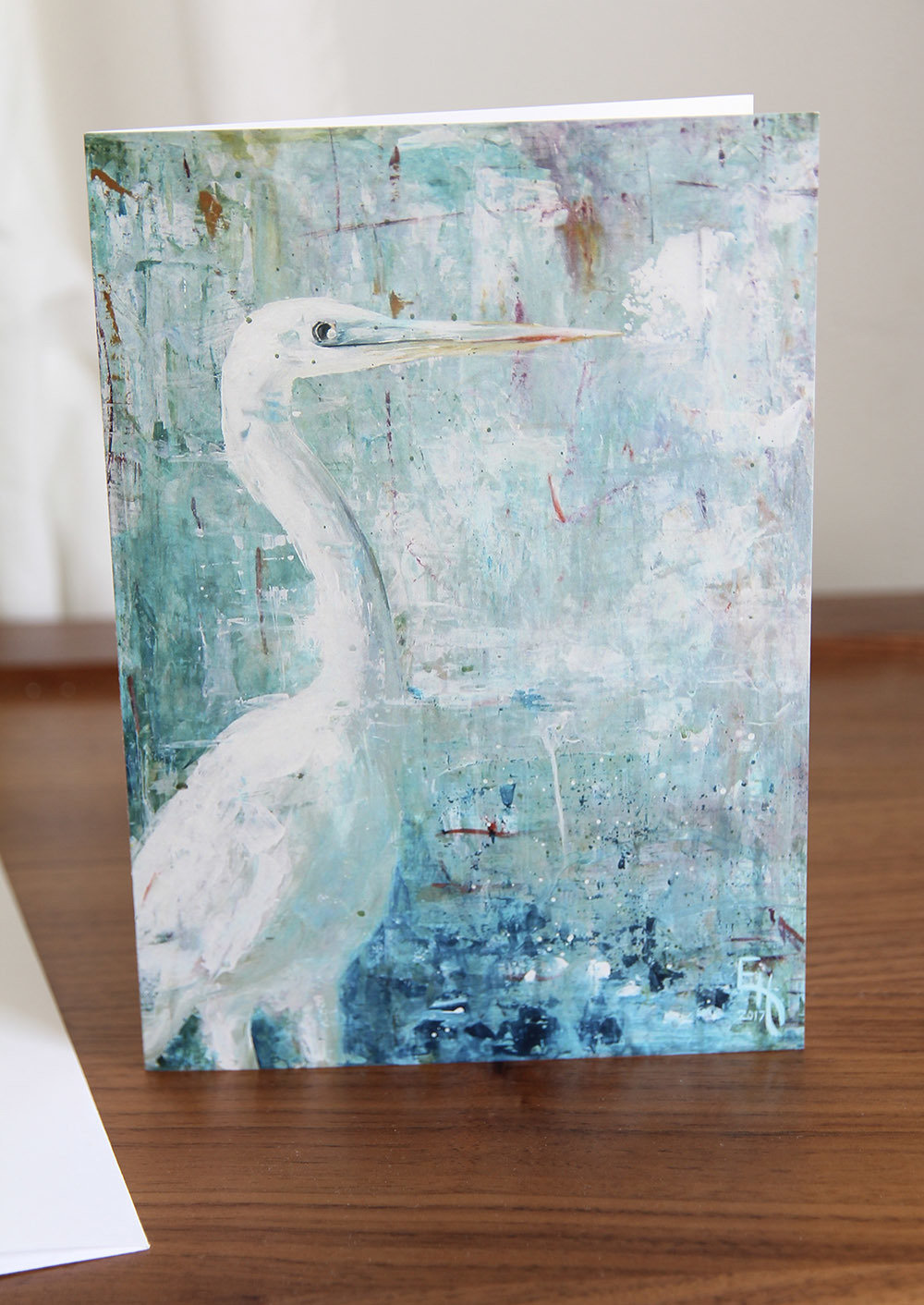 5x7 Greeting Card with Envelope - Observing