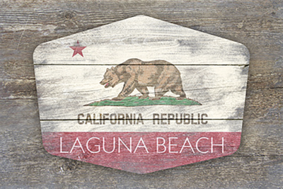 Laguna Beach CA Bear Flag Poster