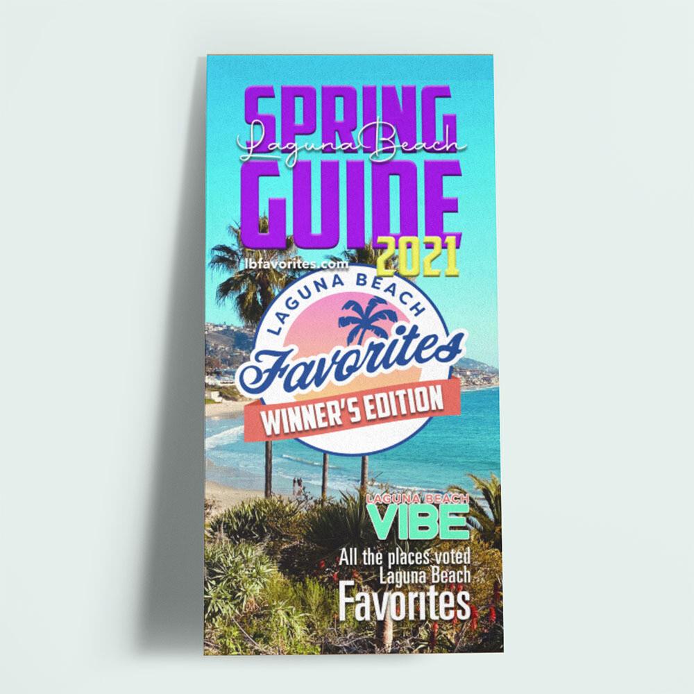2021 Laguna Beach Favorites Spring Guide 2 Page Spread