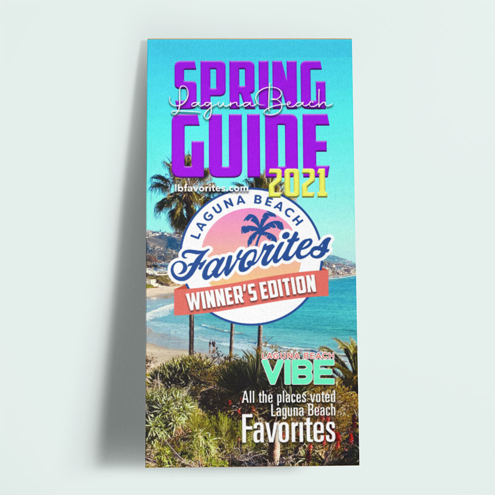 2021 Laguna Beach Favorites Spring Guide Full Page With Product Feature