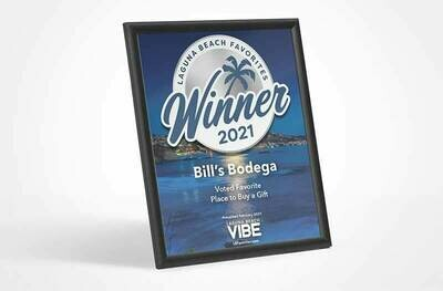 2021 Laguna Beach Favorites Winner's Modern Plaque