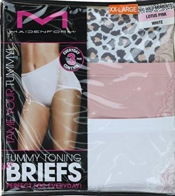 MAIDENFORM® WOMENS LACE TUMMY TONING BRIEFS 3 PACK