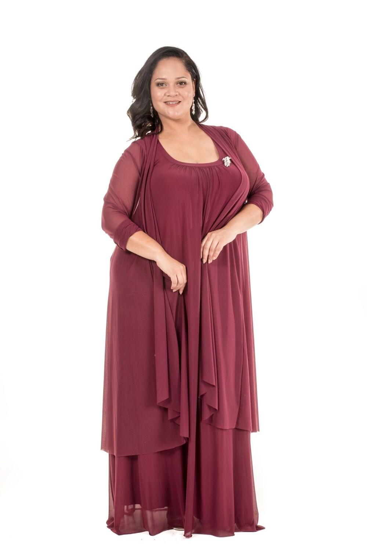 Donna Plus Size Evening Dress