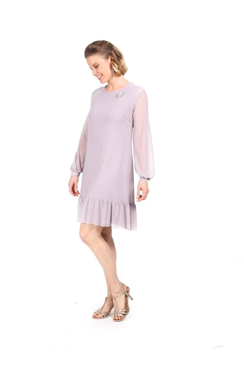 Frill Tunic with Bishop Sleeve