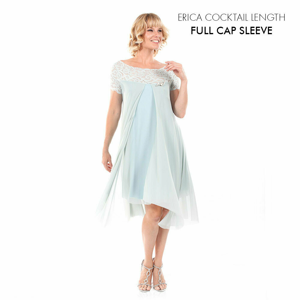 Erica Cocktail Dress with Full Cap Sleeve