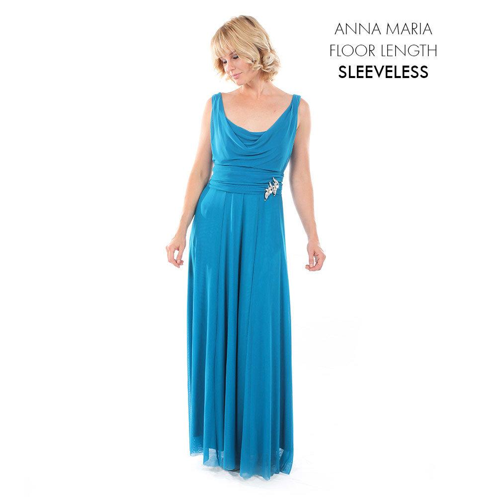 Anna Maria Sleeveless Evening Dress