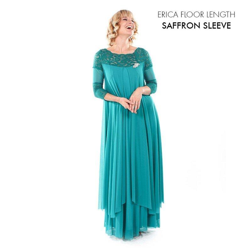 Erica Evening Dress with Saffron Sleeve