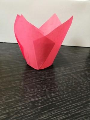Форма бумажная Тюльпан розовый 50х80 мм 1 шт
