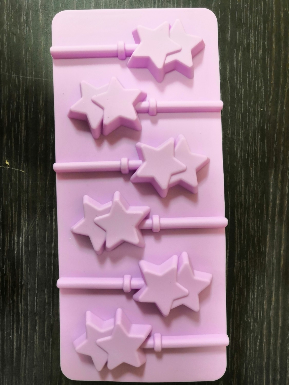 Форма для леденцов Звезды 9,5*24*1 см