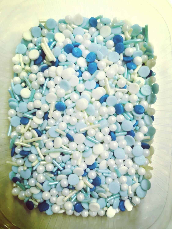 Посыпка сахарная микс Голубой/жемчуг 50 гр