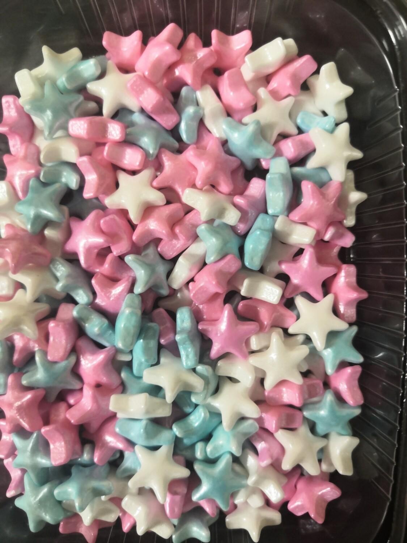 Посыпка Микс Звезды 3D белый-розовый-голубой 50 гр