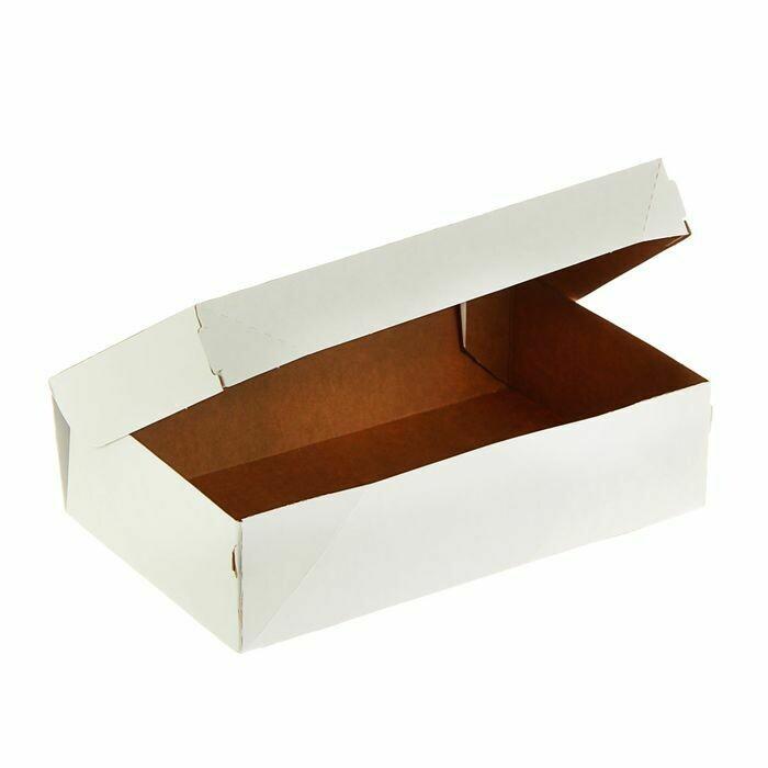 Кондитерская упаковка белая 23*14*6