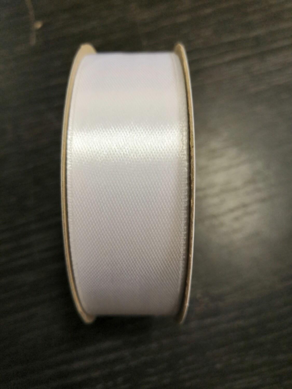 Лента атласная h 25 мм белый