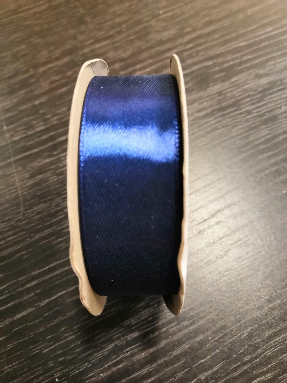 Лента атласная h 25 мм синий