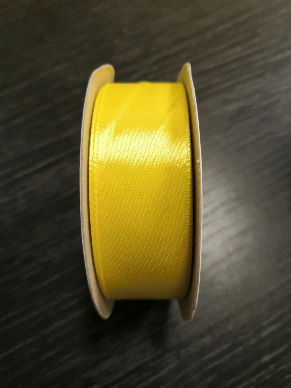 Лента атласная h 25 мм желтый
