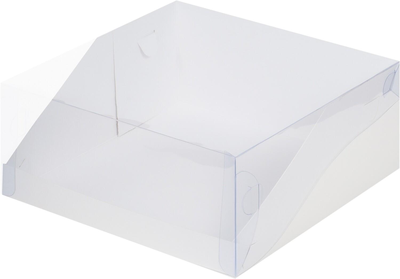 Коробка под торт с прозрачной крышкой 22.5*22.5*10 см
