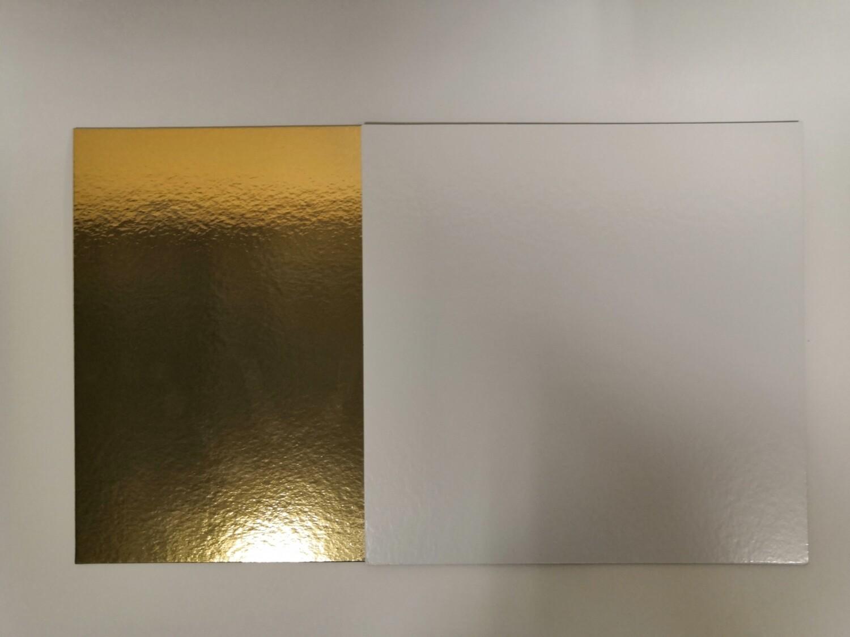 Подложка квадрат плотность 1.5 золото/белая 24*24