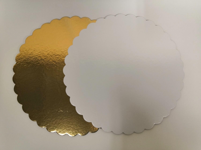 Подложка ажурная плотность 3.2 золото/белый d 28