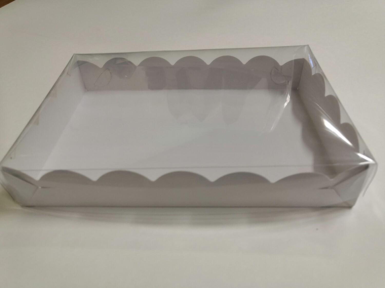 Коробка для пряников с прозрачной крышкой 25*15*3.5 см