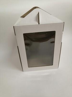 Коробка для кулича с окном 16*16*20 см