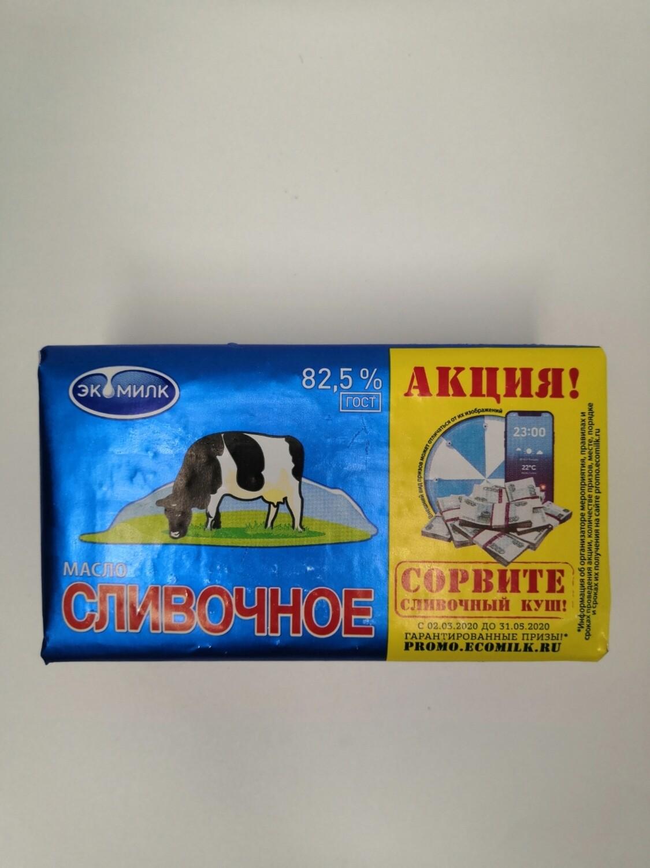 Масло сливочное ЭКОМИЛК 82,5% 450 гр