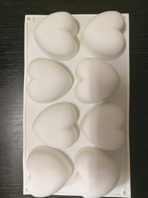 Форма силиконовая Сердца 8 ячеек