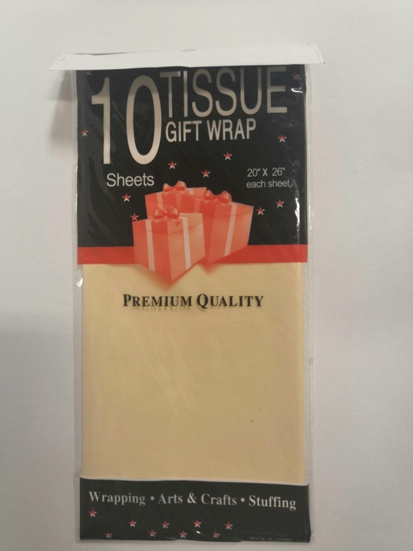 Бумага тишью 50*66 см ванильный 10 листов
