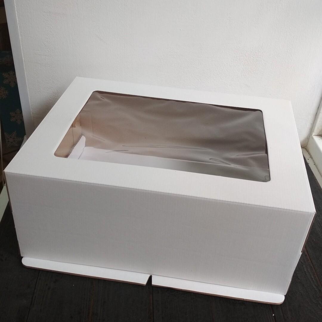 Коробка для торта гофрокартон 40*30*20 с окном