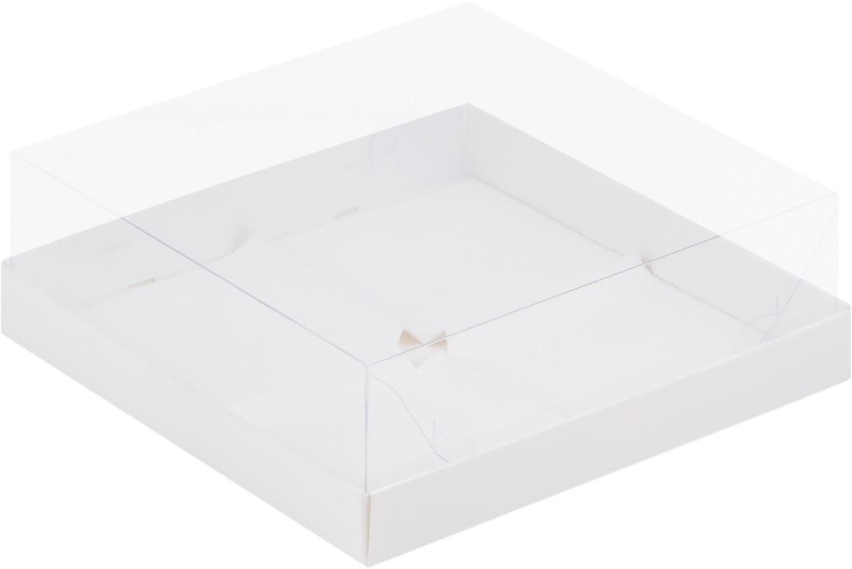 Коробка под муссовые пирожные на 4 шт белая
