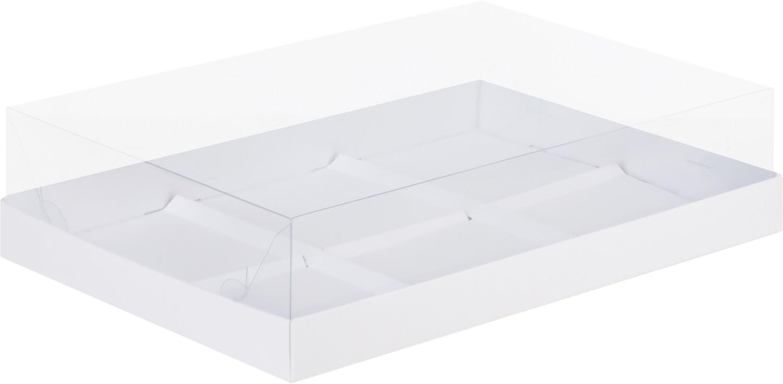 Коробка под муссовые пирожные на 6 шт белая