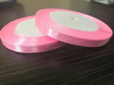 Лента атласная h 0,6 см розовый
