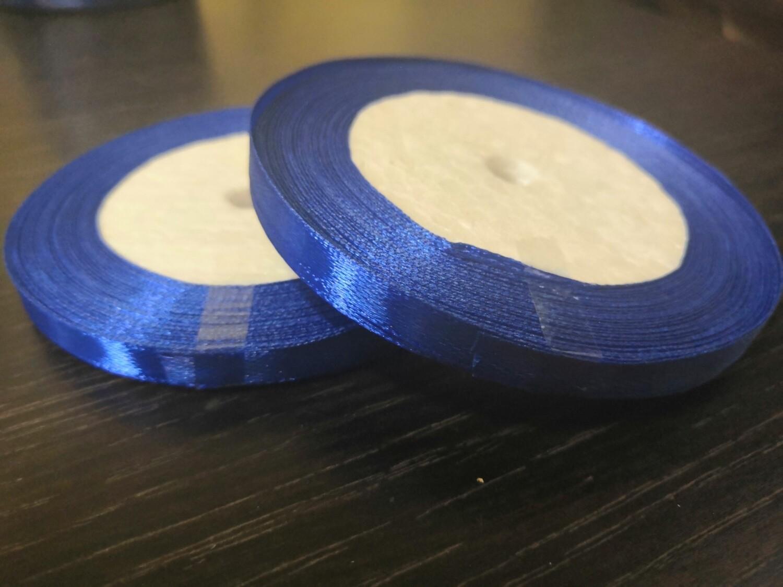 Лента атласная h 0,6 см синий