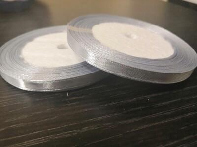 Лента атласная h 0,6 см серебро