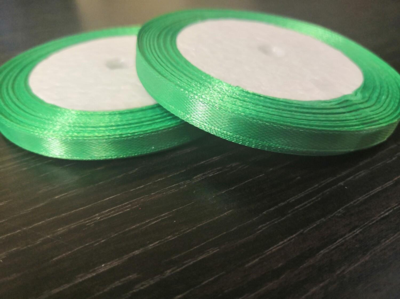 Лента атласная h 0,6 см зеленый
