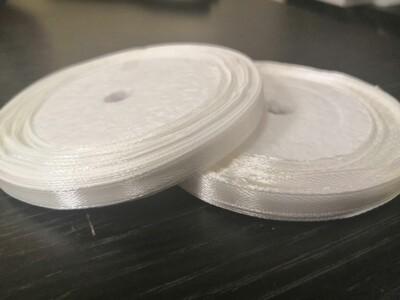 Лента атласная h 0,6 см белый