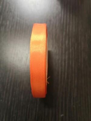 Лента атласная h 12 мм оранжевый