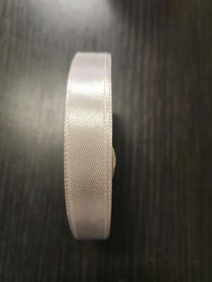 Лента атласная h 12 мм серебро
