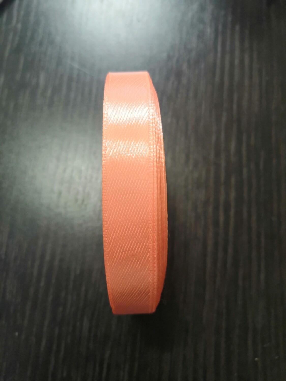 Лента атласная h 12 мм темно-персиковый