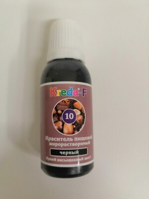 Краситель жирорастворимый гелевый черный Kreda 20гр