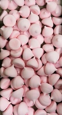 Сахарные фигурки Крупное-безе розовые 100 гр