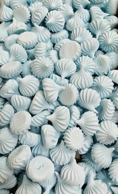 Сахарные фигурки Среднее-безе голубые 100 гр