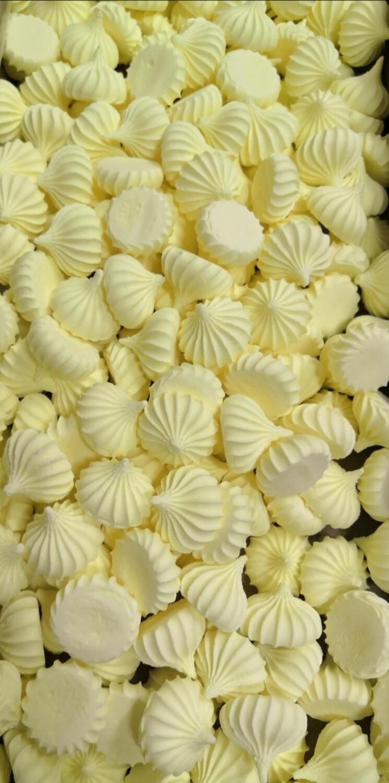 Сахарные фигурки Среднее-безе желтые 100 гр