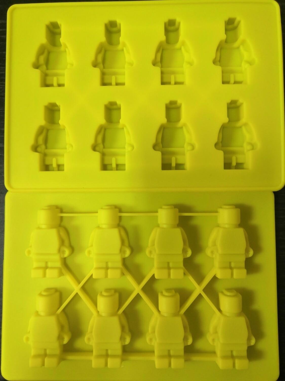 Силиконовая форма Лего человечки 8 ячеек