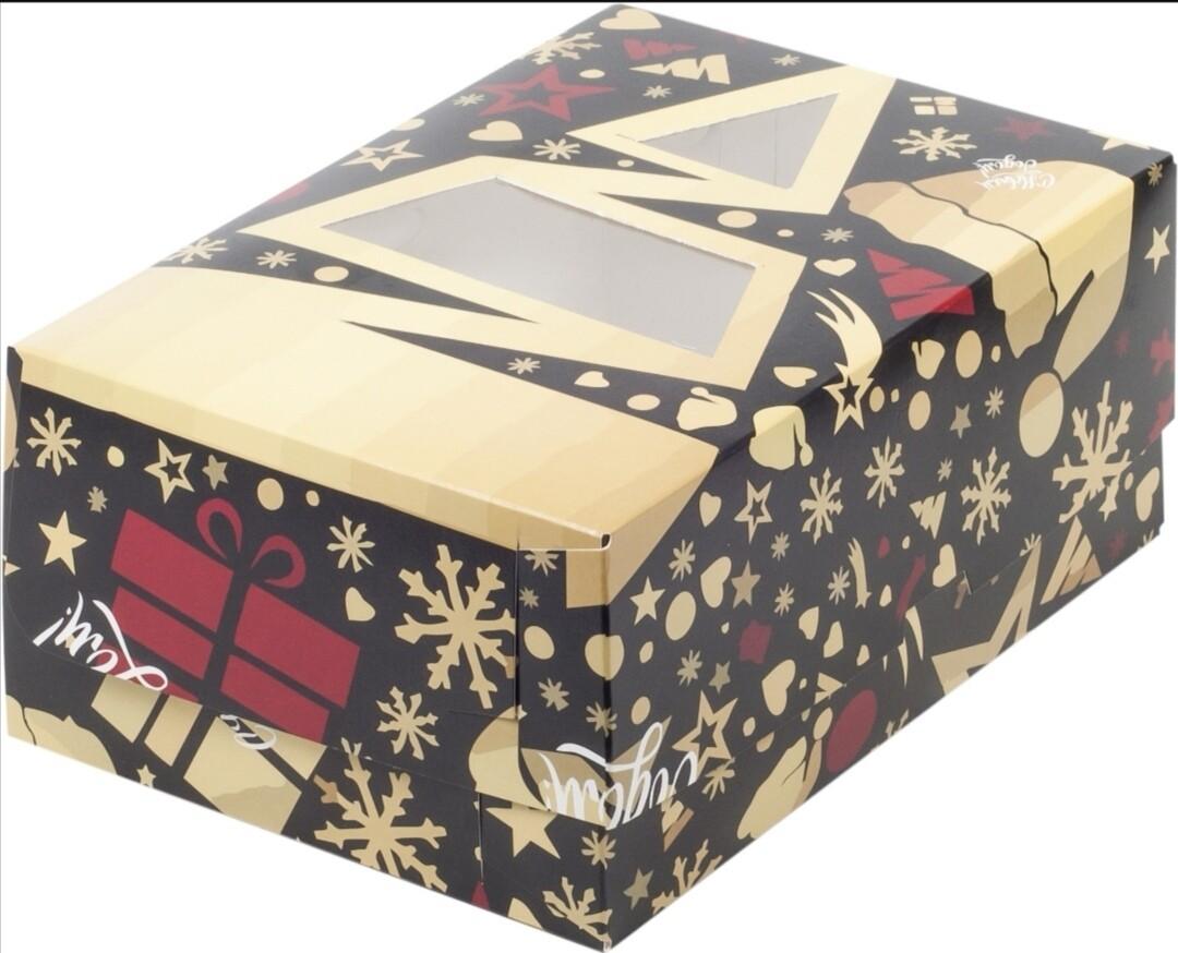 Упаковка для капкейков с окном Елочка на 6 шт