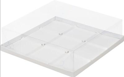 Коробка под муссовые пирожные на 9 шт белая